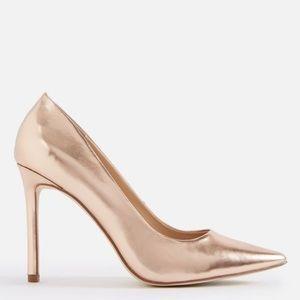 Metallic Rose Gold Lyssa Pointed Toe Classic Pump